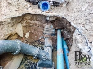 flow plumbing main water line repair